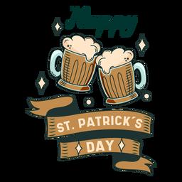 Emblema do Feliz Dia de São Patrício