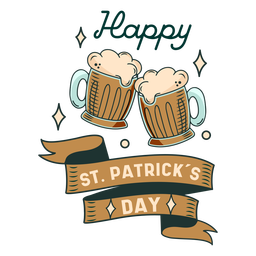 Happy St Patricks day badge