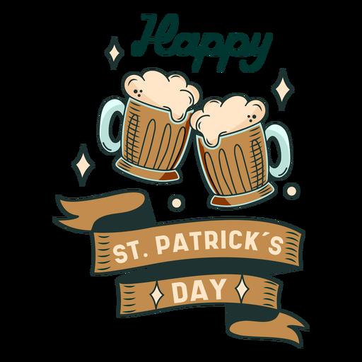 Happy St Patricks day badge