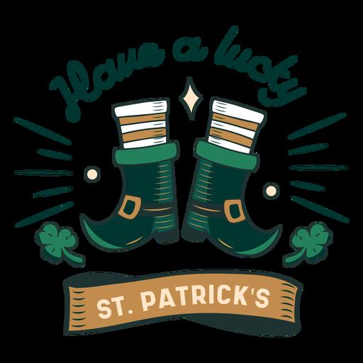 Lucky St Patricks badge