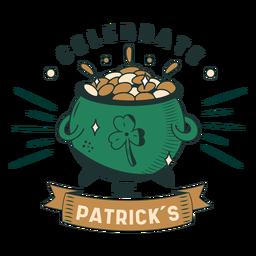Celebrate St Patricks badge