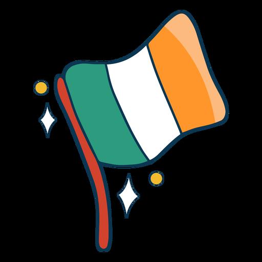 Irish flag flat