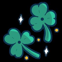 Tréboles de tres hojas planas