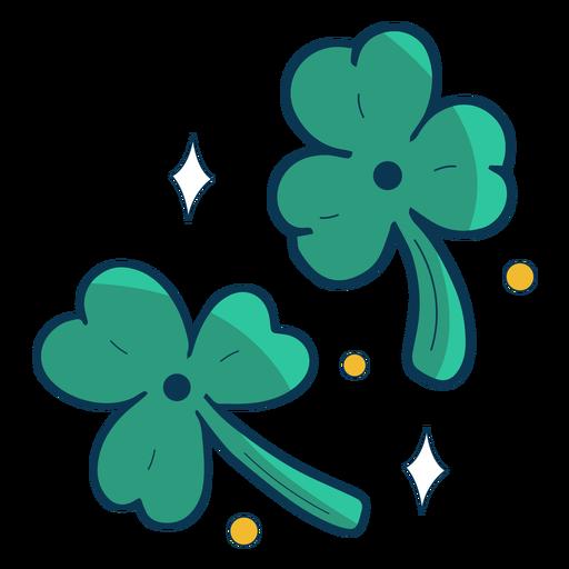 Three leaf clovers flat