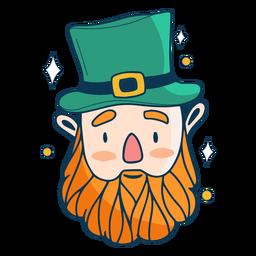 Duende irlandés tradicional plano