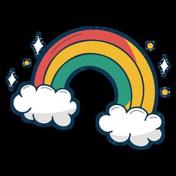 Arco iris sobre nubes planas