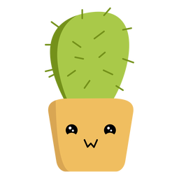 Plano cactus kawaii