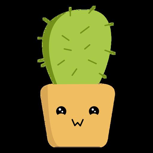 Kawaii cactus flat Transparent PNG