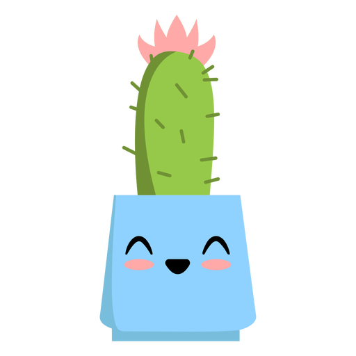 Feliz plano lindo cactus