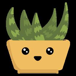Feliz suculenta planta de casa kawaii