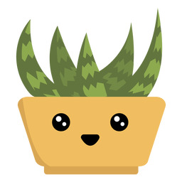 Happy succulent houseplant kawaii