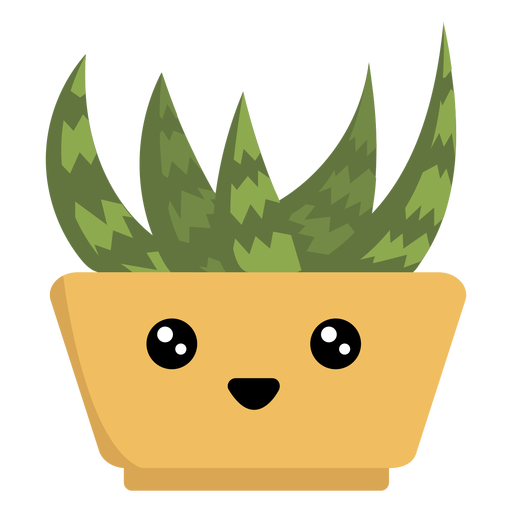 Feliz planta de interior suculenta kawaii