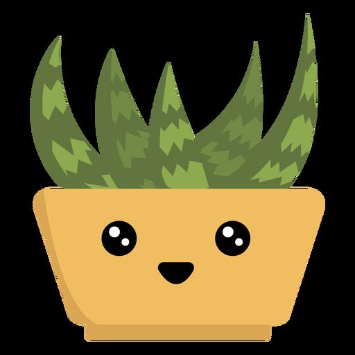 Happy succulent houseplant kawaii