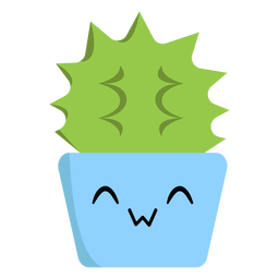 Cheerful cactus flat