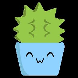 Plano de cactus alegre