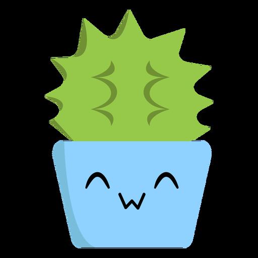 Cheerful cactus flat Transparent PNG
