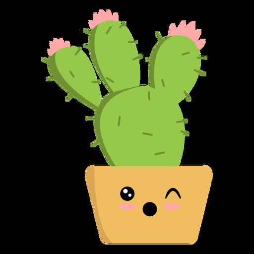 Cactus winking flat Transparent PNG