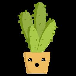 Funny cactus flat