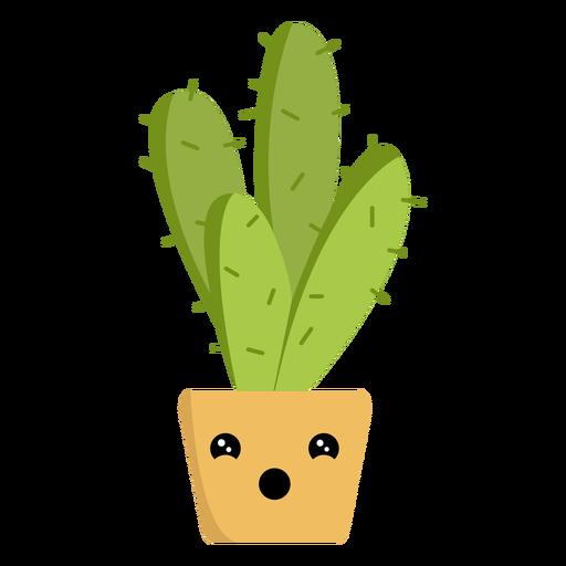 Funny cactus flat Transparent PNG