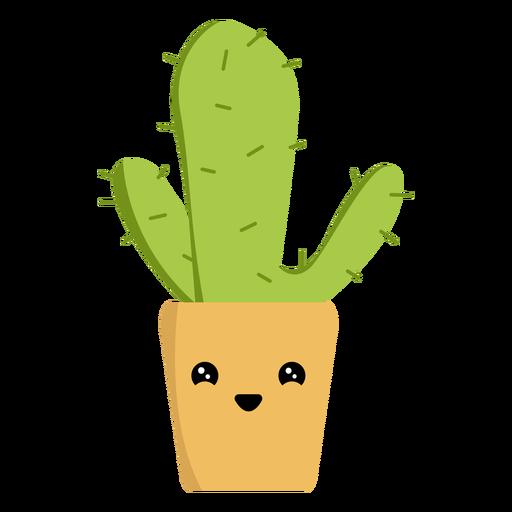 Adorable cactus flat