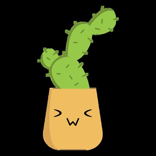 Cactus kawaii plano