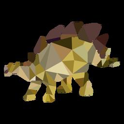 Dinosaurio poligonal de color