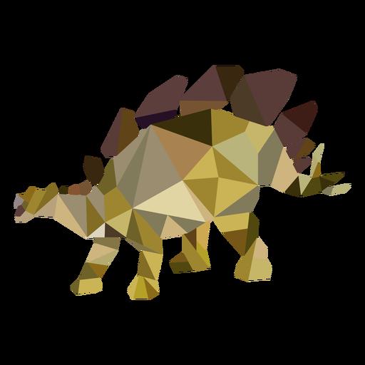 Polygonal dinosaur colored