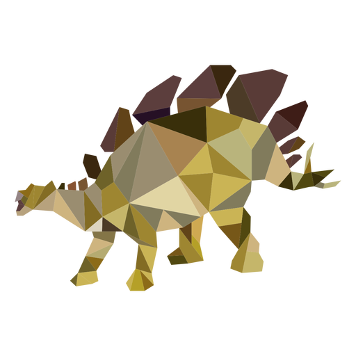 Polygonaler Dinosaurier gefärbt