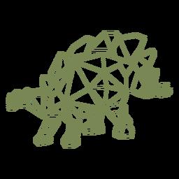 Dinossauro herbívoro poligonal