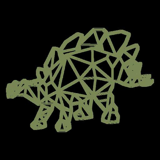 Polygonal herbivore dinosaur