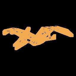 Polygonal flying dinosaur