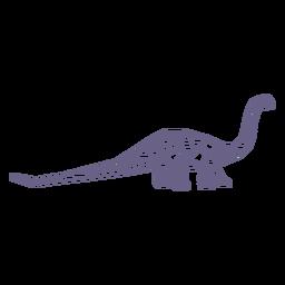 Dinosaurio braquiosaurio poligonal