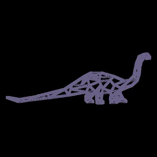 Polygonal brachiosaurus dinosaur