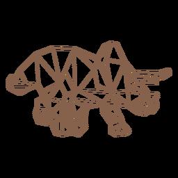 Dinossauro triceratops poligonal
