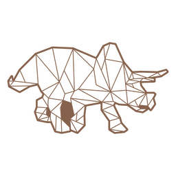Polygonal triceratops dinosaur