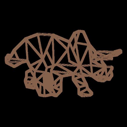 Dinosaurio triceratops poligonal