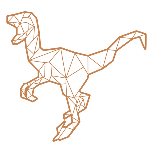 Dinossauro velociraptor poligonal