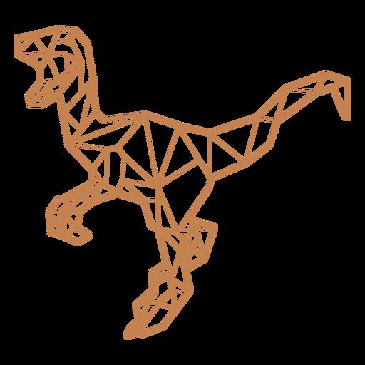 Polygonal velociraptor dinosaur