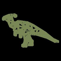 Dinossauro poligonal caminhando