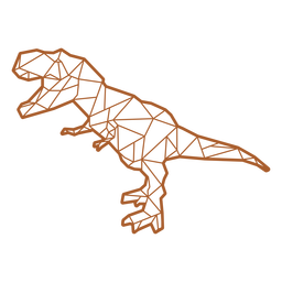Dinossauro poligonal T-rex