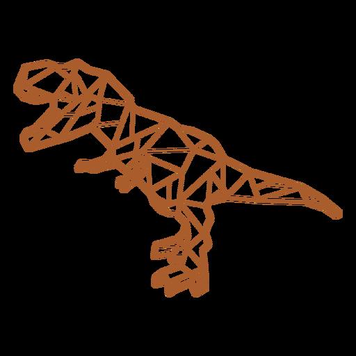 Dinosaurio poligonal t-rex