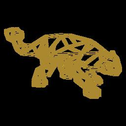 Dinosaurio poligonal herbívoro