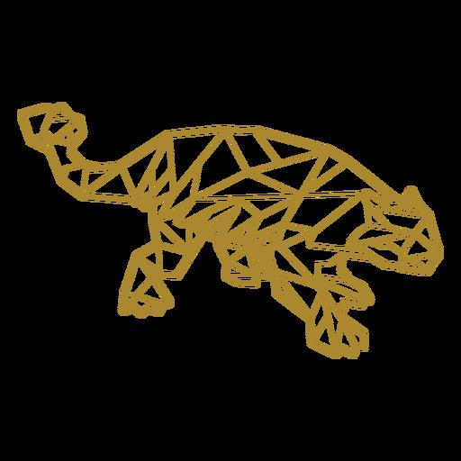Polygonaler Pflanzenfresser-Dinosaurier
