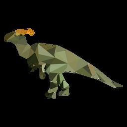 Dinosaur polygonal colored