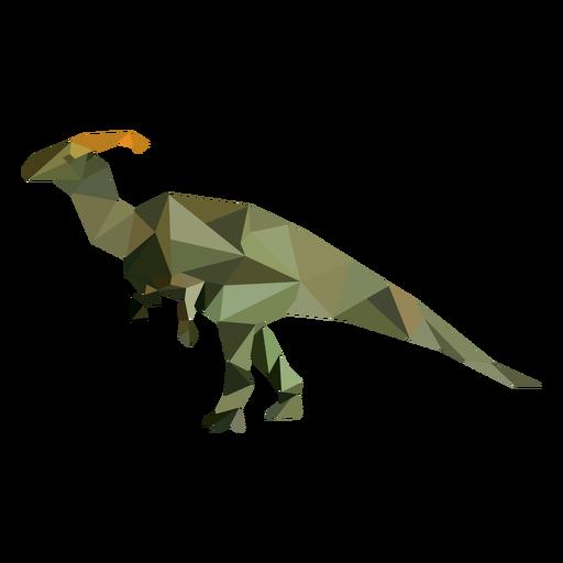 Dinosaurier polygonal gefärbt