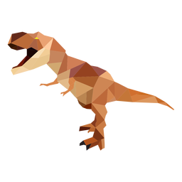 Polygonal T-rex dinosaur colored