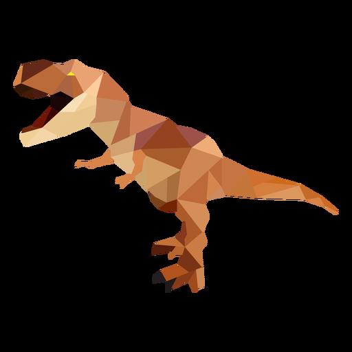 Polygonal T-rex dinosaur colored