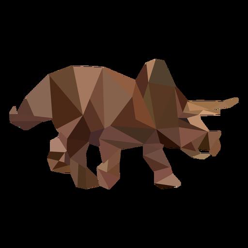 Dinossauro triceratops poligonal colorido