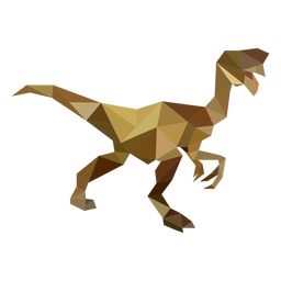 Velociraptor dinosaur polygonal colored