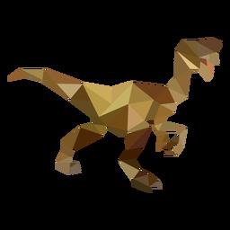 Velociraptor dinosaurio poligonal de color